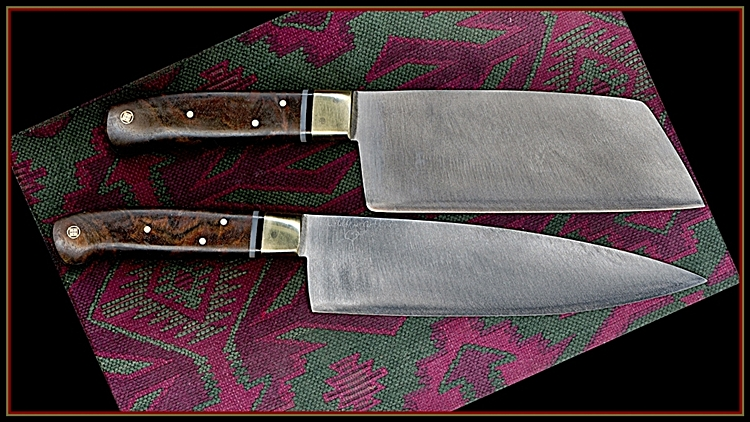 "Top: 3"" Cleaver, Walnut , b/w spacer array."