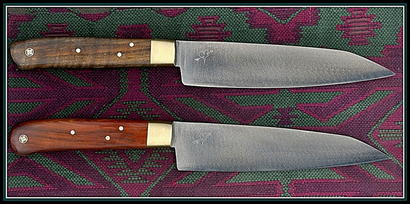Top has English walnut wood handle and the bottom has Manzanita.