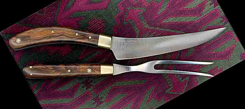 Knife and fork carving set