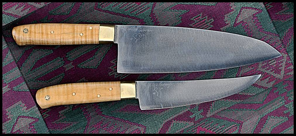 "8"" x 2.5"" Santoku, Flamed Maple"
